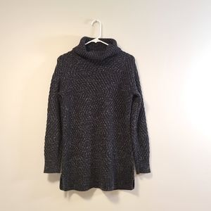 ROOTS Turtleneck Cable Knit Sweater Black …